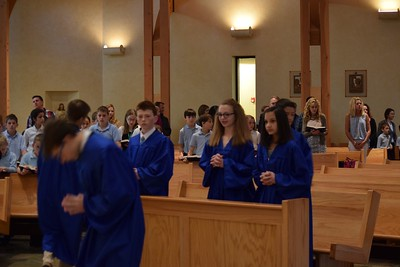 8th Grade Ribbon Ceremony/Fr. Kelly's 60th Anniversary of Ordination
