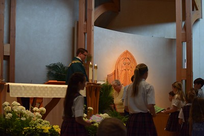 Father Chris Lankford celebrates his first student Mass.