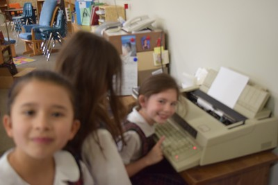 First Grade meets historic technology
