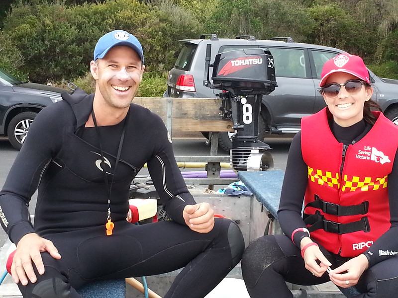 P2P 2016 Tyrone Smoger, Water Safety with Club Captain Sophie Riddell