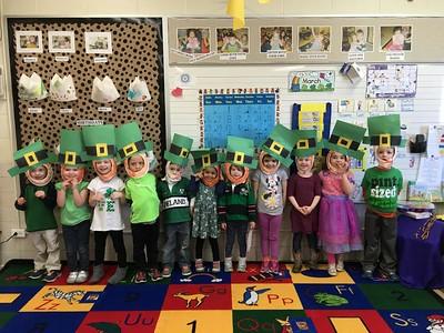 PreK 3's St. Patrick's Day