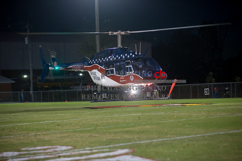 Air Evac 58 Ball Delivery Belmont High School 10.16.2015  Copyright: Chris Butler Photography