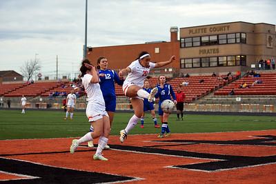 Platte County Girls Soccer vs St Joe Central