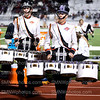 """Senior Colin Anthony rallys up the crowd with the NW drumline on Sept. 11 at the North Stadium. """"I've known this drumline forever and it's just kinda sad. However we are really good, and I am excited to finish out the year with them"""" Anthony said."""