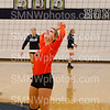 "Junior Natalie Egan warms her arms up on Sept. 2 at Blue Valley North. The Cougars lost to the Mustangs in all three sets. ""It was probably one of the best starts we have had against Blue Valley North"" Egan said."