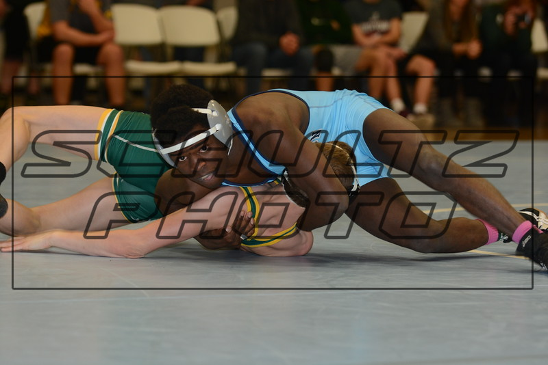 CR Jefferson defeats CR Kennedy 39-21<br /> 113<br /> Joseph Sibomana (Cedar Rapids Jefferson) over Cam Shaver (Cedar Rapids Kennedy) (Fall 1:43)