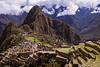 PERU - CUZCO - 14/04/2015 - Vista de la ciudad INCA de Machu Pichu bajo las nubes / View of the INCA city of Machu Pichu on a cloudy day / Peru : Blick auf die INCA - Stadt Machu Pichu im Nebel © Bruno Bertagna/LATINPHOTO.org