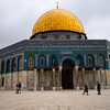 The Dome of the Rock is a shrine located on the Temple Mount in the Old City of Jerusalem.