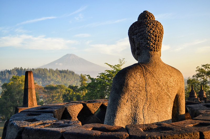 Buddha at Borobudur, Java