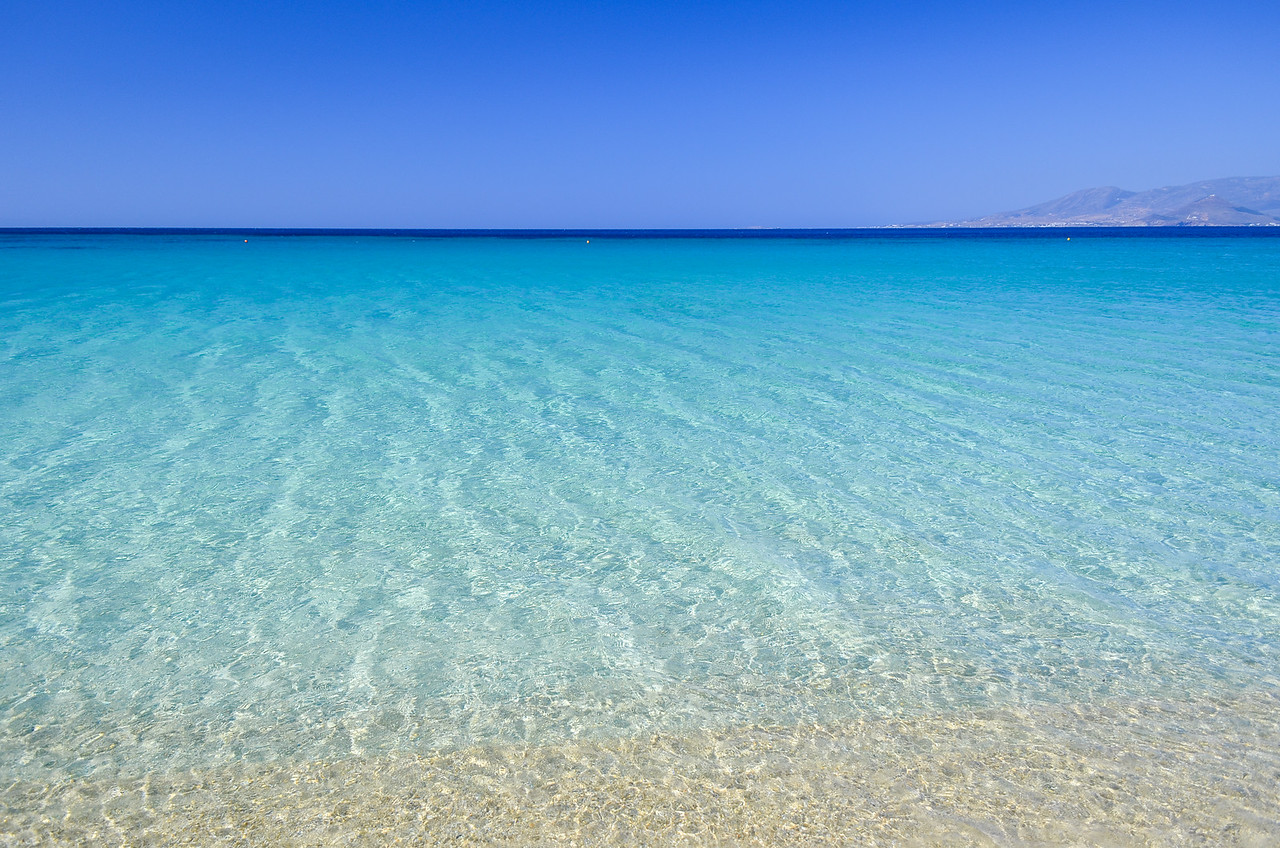 Sea on Agios Prokopios beach, Naxos