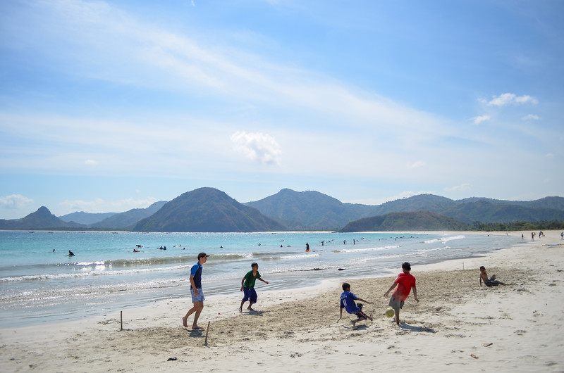 Football on Selong Belanak beach, Lombok