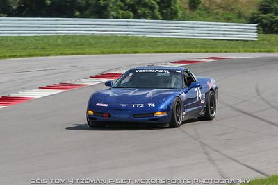 TT2 #74 Corvette @ NCM Motorsports Park, July 2015