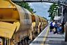 Autoballaster wagons at Portlaoise. Fri 03.07.15