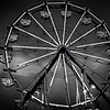 Black and White Ferris Wheel