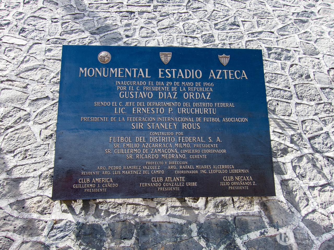 A Monumental Plaque