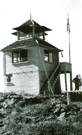 The Old Baldy lookout in 1942, Oregon