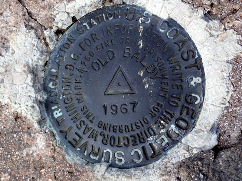 The USCGS benchmark on Old Baldy, Dead Indian Plateau, Southern Oregon