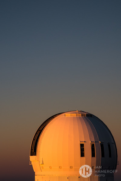 Sunset Awashes Telescope