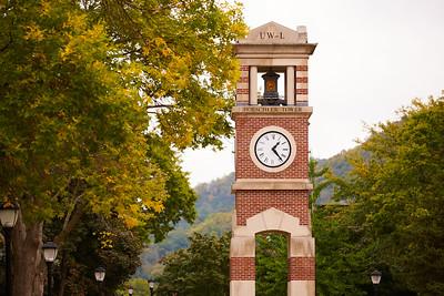 Location; Outside; UWL UW-L UW-La Crosse University of Wisconsin-La Crosse; Buildings; Clock Hoeschler Tower