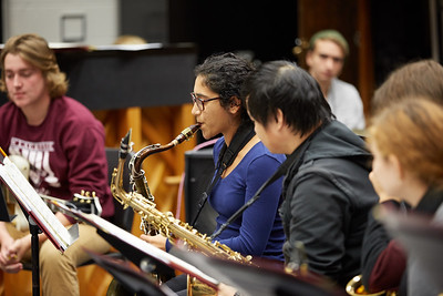 Activity; Music; Playing; Buildings; Center for the Arts CFA; Location; Inside; Objects; Band; People; Student Students; Fall; October; Time/Weather; day; Type of Photography; Candid; UWL UW-L UW-La Crosse University of Wisconsin-La Crosse; Rodriguez Brothers workshop