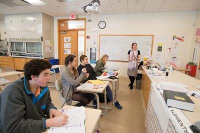 Penn Fellow Emily Adler teaching in her science classroom.