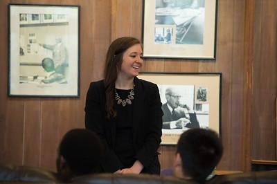 Kristin Scalzo was this year's Albert Family Holocaust Study Fund speaker.