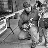 Keith and little girl-bw