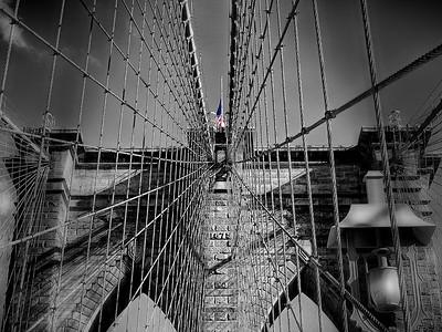 Brooklyn Bridge Tower by Gary Emord    Score:11