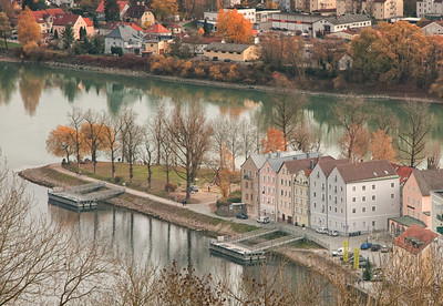 Autumn in Passau by Phyllis Peterson  PSA Score: 11