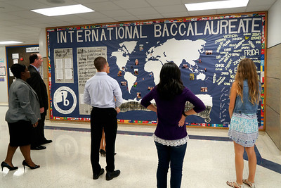 LISD's new superintendent, Dr. Dan Troxell, toured Leander High School Tuesday, Aug. 30, during his first week on the job.