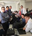The Leander High School debate team competes in its first debate of 2016-17 season. Here, team members prepare for the next round.
