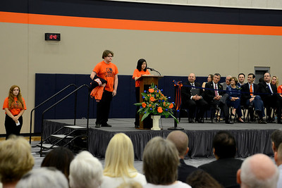 The dedication ceremony for Glenn High School  Saturday, Sept. 17, 2016. The namesake of GHS, Tom Glenn, retired in January of 2008 after serving as superintendent of LISD for 20 years. Glenn's leadership led to the establishment of LISD's culture of continuous improvement and Guiding Documents, philosophies that continue to shape the district today.