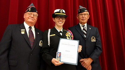 Oct. 6, 2016, Leander ISD Navy Junior ROTC Cadet Robin Ellis was recognized with the Legion of Valor Bronze Cross for Achievement. Ellis is one of only 17 Navy JROTC cadets nationwide to earn this prestigious recognition. Ellis received the award for demonstrating leadership and scholarship through Vista Ridge High School's NJROTC program. The Legion of Valor Bronze Cross for Achievement is sponsored by the Legion of Valor of the United States of America. This is the highest honor a student in the JROTC can receive.