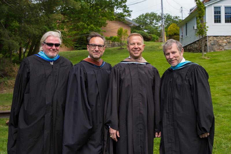 Ray Hecht, Harold Heno, Col. Timothy Kopra, Headmaster Jonathan Lamb