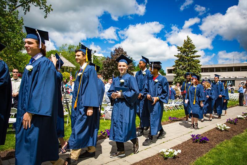 Graduates exit the venue