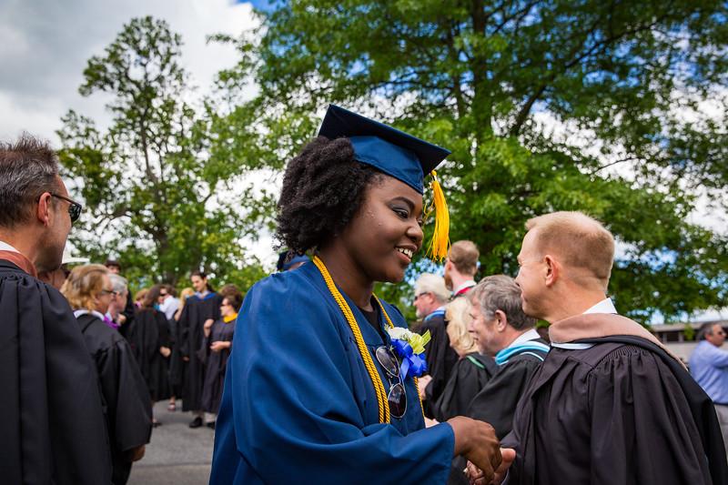 Jutta Yaa Frema Appiah receiving her diploma.