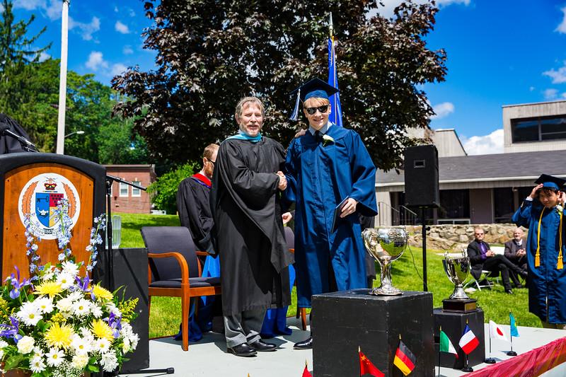 Mark Katz Jr. poses with Headmaster Lamb