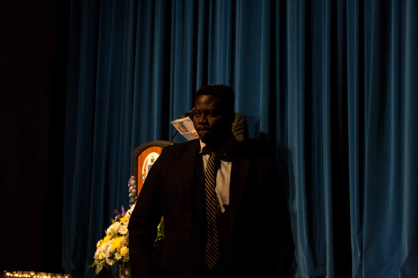 Christian Quartey at Senior Service