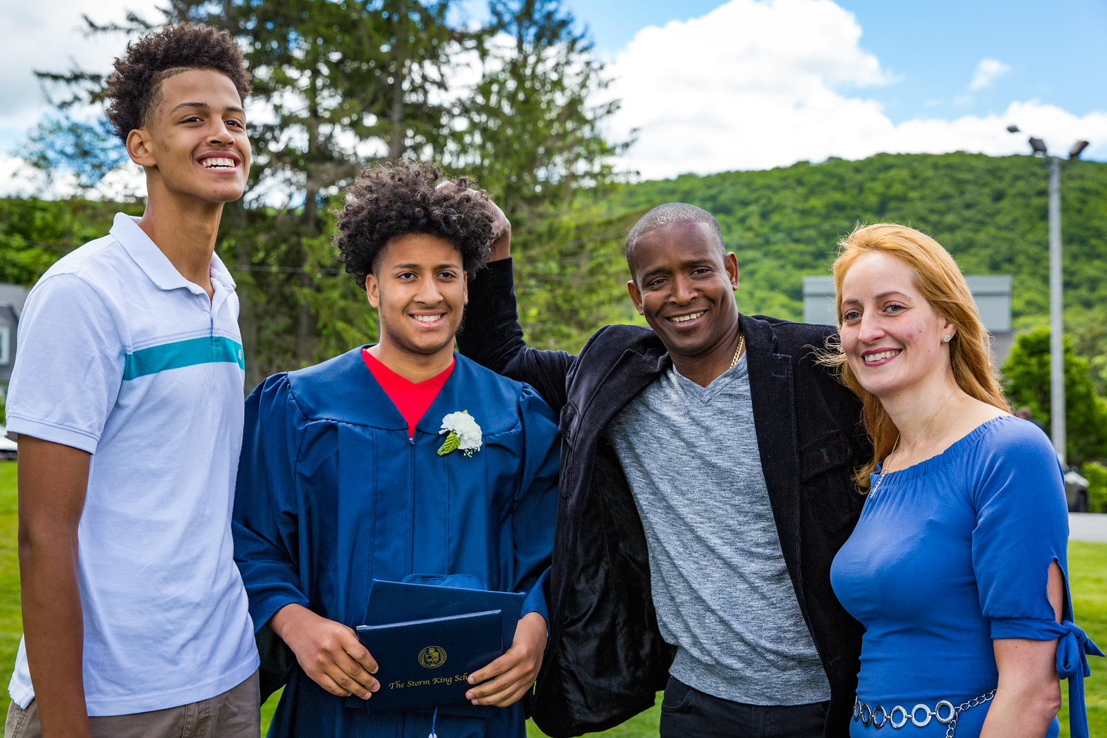 The Figueroa family on graduation day.