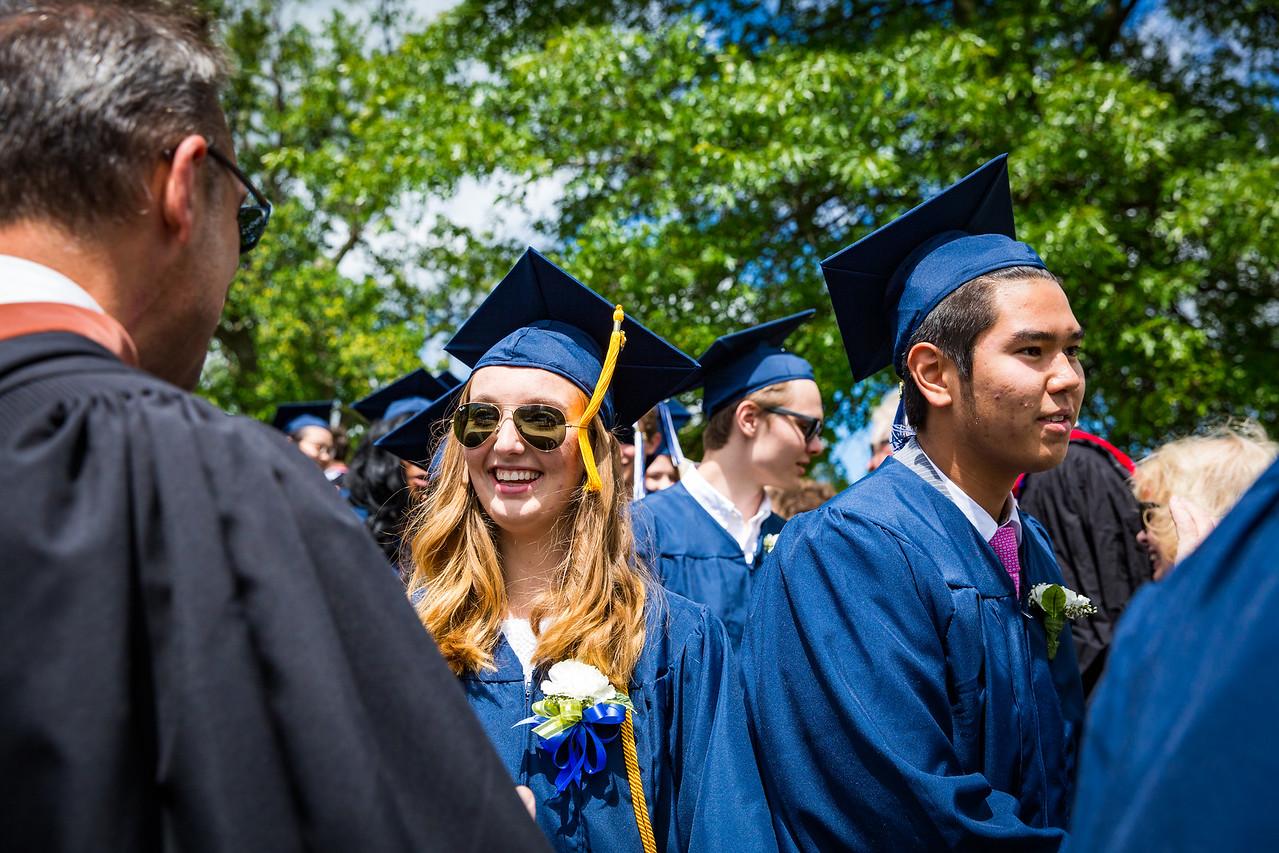"""Graduates Catherine Pomeroy and Dinmukhamed """"Dimash"""" Mukhamedi"""