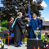 Headmaster Lamb congratulates Dalibor Hanes