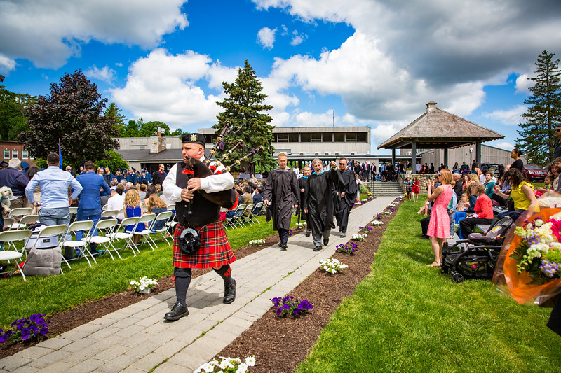 The Faculty Recessional was led by bagpipes