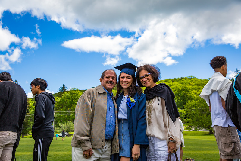 Maria Claudia Gonzales Rodriguez with her parents on Graduation day.