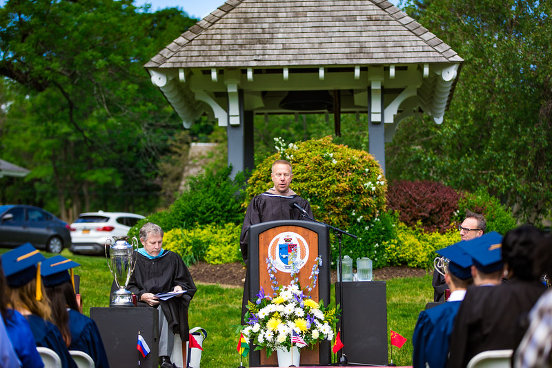 Col. Timothy Kopra addresses the senior class