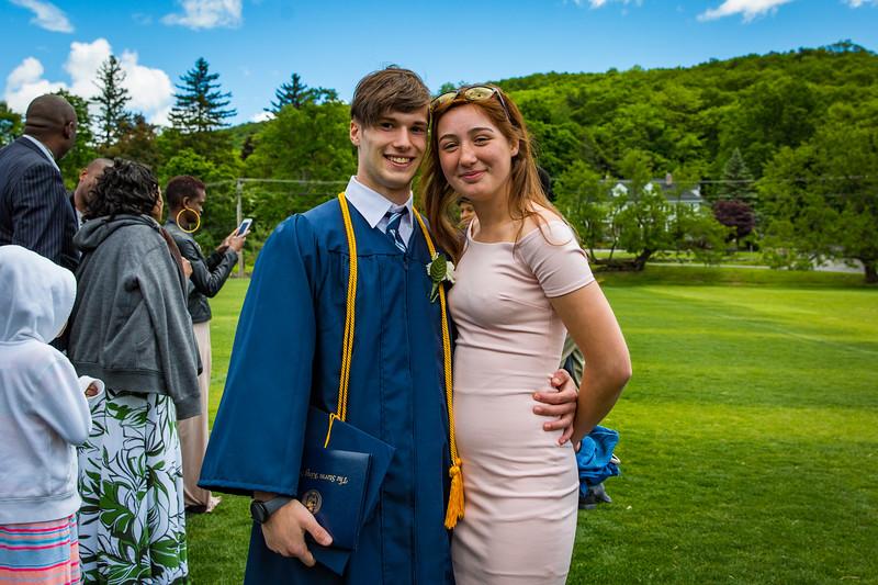 Graduate Sebastian Zucker and Rory Tobin '20