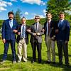 Seniors Nick Budich, Sebastian Zucker, Mark Katz Jr., Michael Roper, Dennis McMahon and Mariana Borbon at the Butterfly Ceremony
