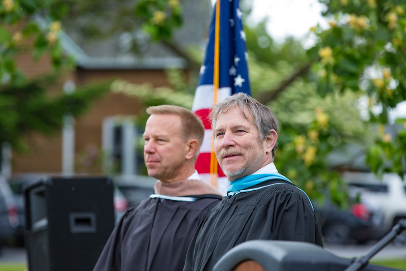 Col. Timothy Kopra and Headmaster Jonathan Lamb