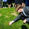 Senior Mark Katz Jr. helps his butterfly along