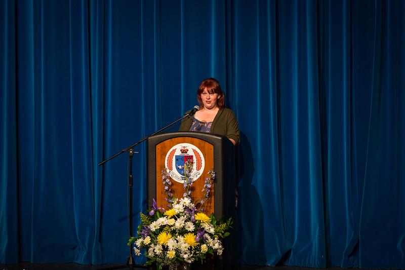 Olivia deBree at Senior Service