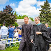 Col. Kopra and Headmaster Lamb lead the Faculty Recessional